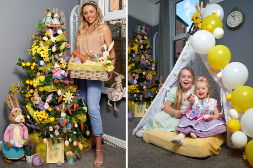 Mums making Easter MORE special than Xmas with 5ft trees, decorations from The Range & Home Bargains and egg hunts