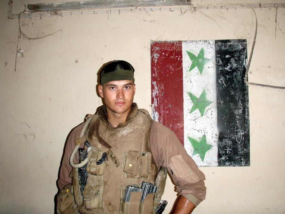 Jake Wood, while serving in Iraq