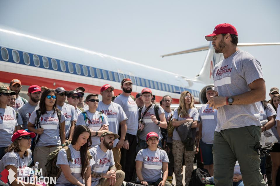 Team Rubicon's mission has a dual impact: assist vulnerable communities after disasters but also provide a sense of purpose, mission and community to the mostly veteran volunteers serving those populations.